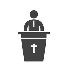 Speaking on funeral vector