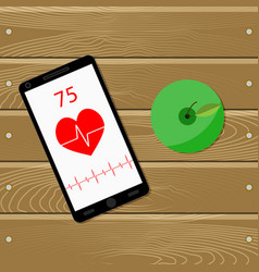 sport and health for heart vector image