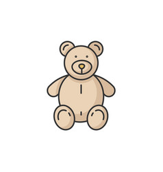 stuffed bear rgb color icon vector image
