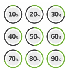 Template pie chart percent vector image