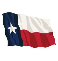 Texas state flag waving vector