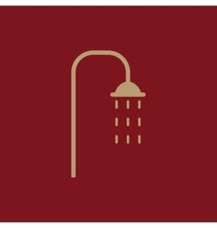 The shower icon Bathroom symbol Flat vector image