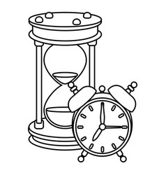 Time clock cartoon vector