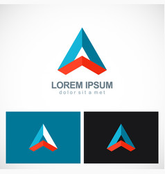 triangle shape geometry colored business logo vector image