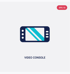 two color video console icon from augmented vector image