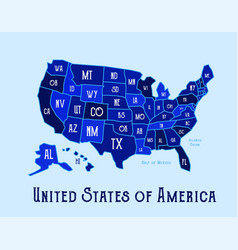 Usa state map vector