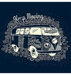 Vintage adventure camping t-shirt print design vector