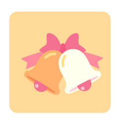 wedding bell flat icon vector image