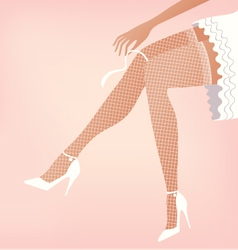 Wedding legs vector