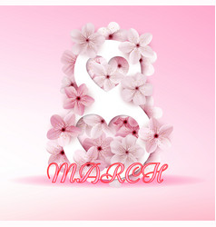 women day background with frame flowers vector image