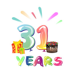 31 years anniversary celebration vector image vector image