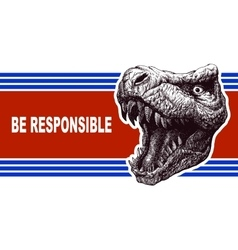 Be responsible - presidential election poster with vector
