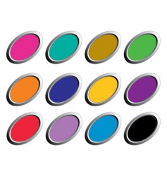 buttons oval vector image