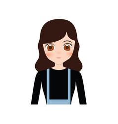 cute anime girl character vector image