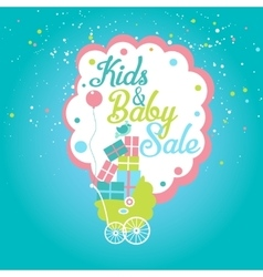 Cute Kids Baby Sale Label vector image vector image