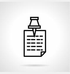 memo paper simple line icon vector image