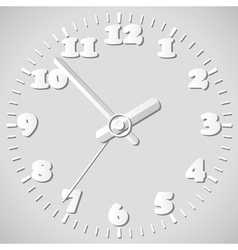 paper origami clock vector image vector image