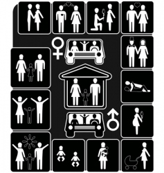 stages of family life vector image