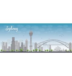 Sydney City skyline vector image