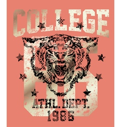 Tiger athletic department vector image vector image