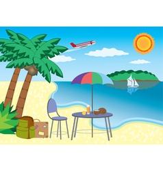 vacation at the seashore vector image