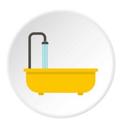 Bathroom icon circle vector