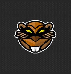 beaver logo design template beaver head icon vector image vector image
