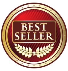 Best Seller Red Label vector image vector image
