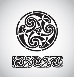 circular celtic design vector image vector image