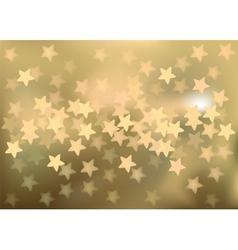Golden festive lights in star shape background vector image vector image