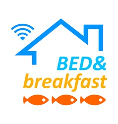 Bed and breakfast vector image vector image