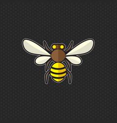 bee logo design template bee head icon vector image