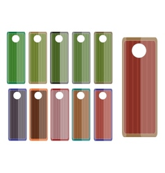 elegance classic colored labels set vector image