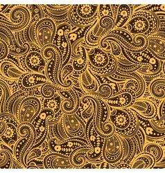 Ethnic paisley pattern vector image