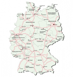 Germany autobahn map vector image