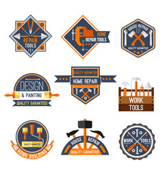 icons set of home repair work tools vector image