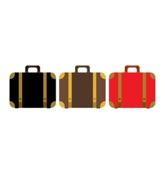 Suitcase set icon Flat design style modern vector image vector image
