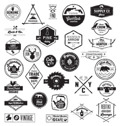 30 hand sketched vintage style logos vector
