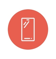 Cellphone thin line icon vector image vector image