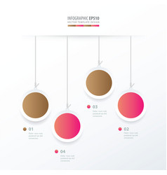 circle hanging concept pink and sugar color vector image vector image