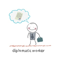 diplomatic worker vector image vector image