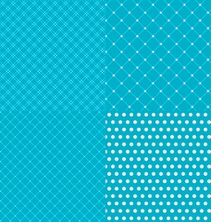 Geometric tiles with dotted seamless patterns vector image vector image