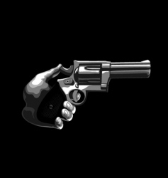 gun in the hand vector image vector image