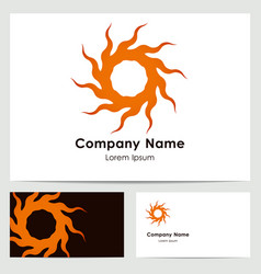logo design business card template vector image