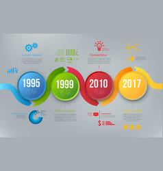 process charts with steps infographics vector image vector image