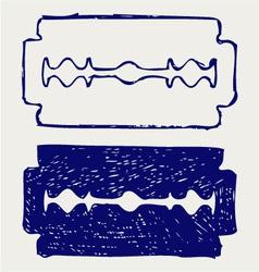 Traditional razor vector image