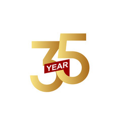 35 years anniversary template design vector