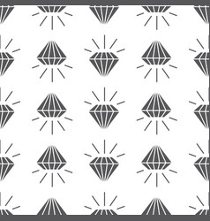 abstract grey seamless pattern with diamonds vector image