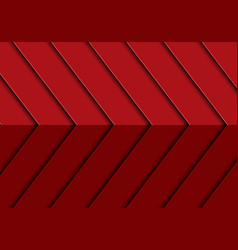 abstract red arrow 3d pattern design modern vector image