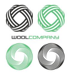 abstract wool logo vector image
